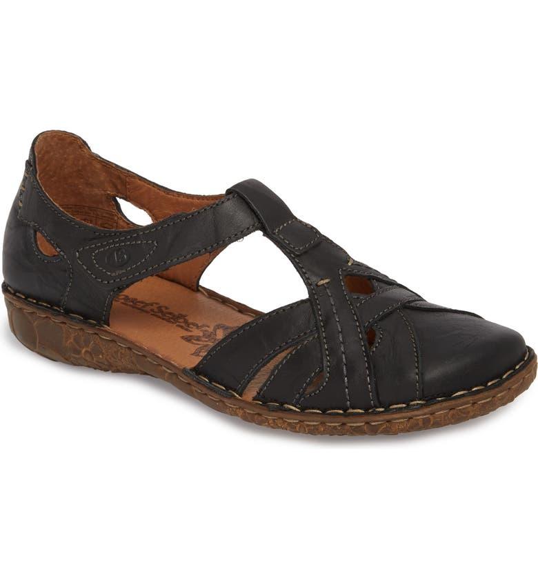 JOSEF SEIBEL Rosalie 29 Sandal, Main, color, BLACK LEATHER