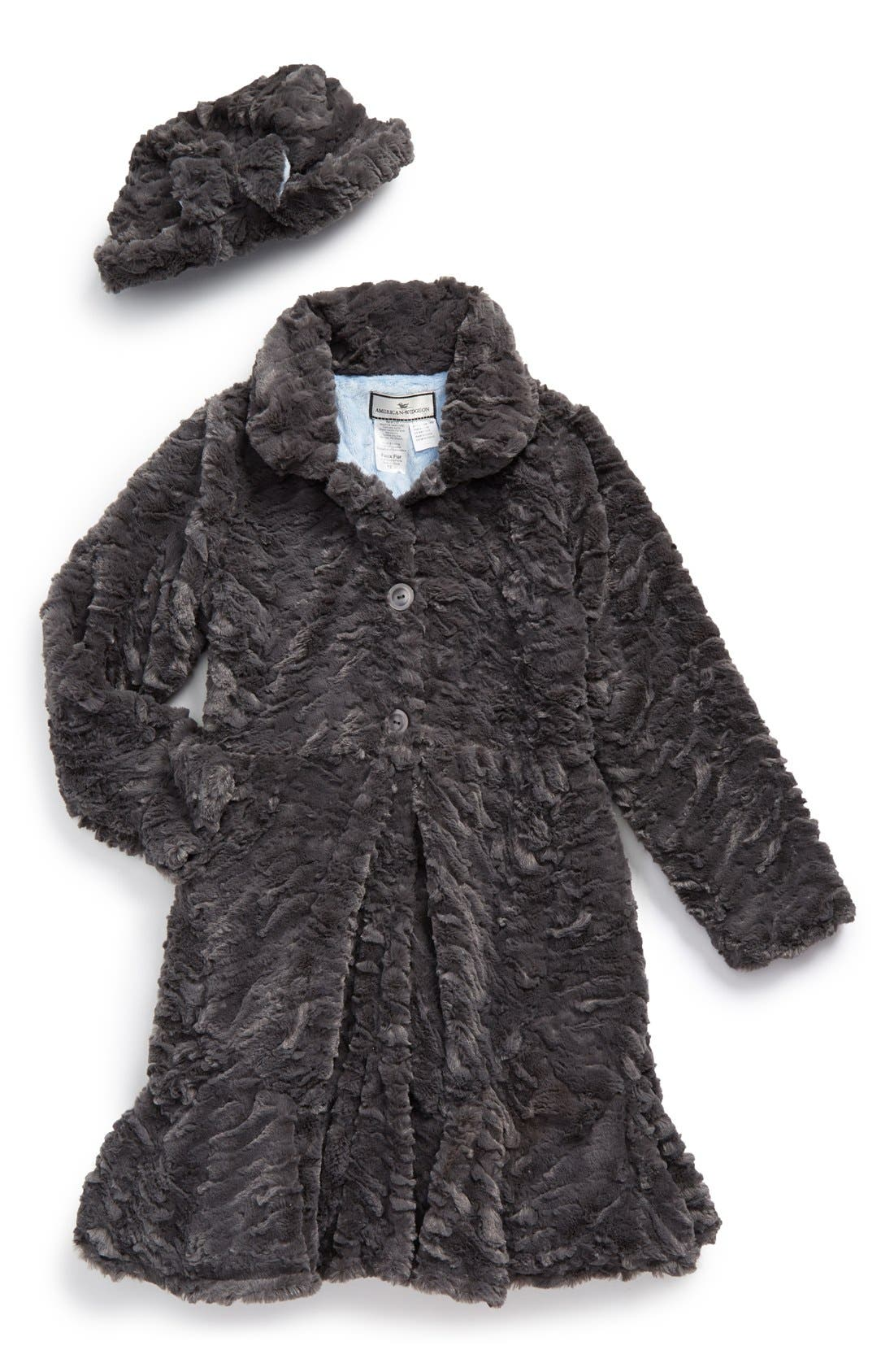 Widgeon Big Girls Twirly Bottom Coat with Hat