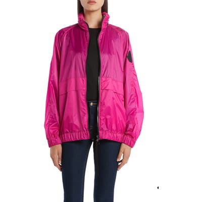 Moncler Hooded Ripstop Jacket, Pink