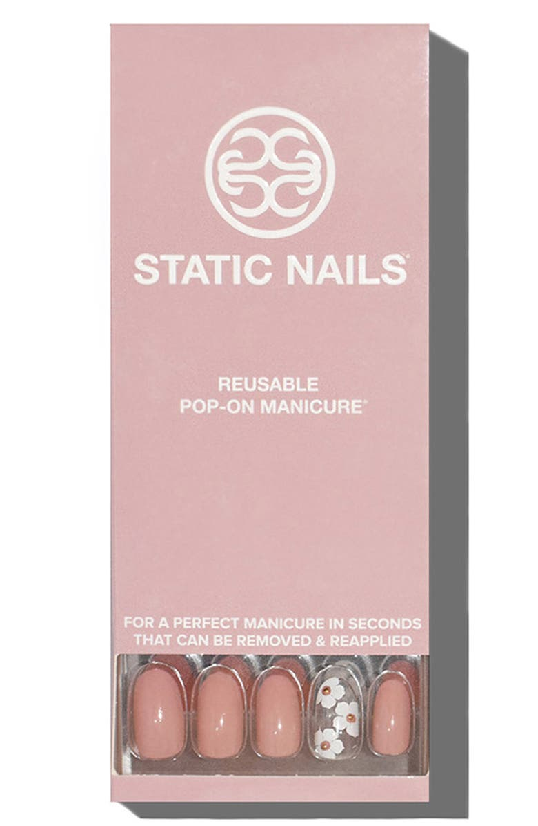 STATIC NAILS Macaron Gardens Pop-On Reusable Manicure Set, Main, color, MACARON GARDENS