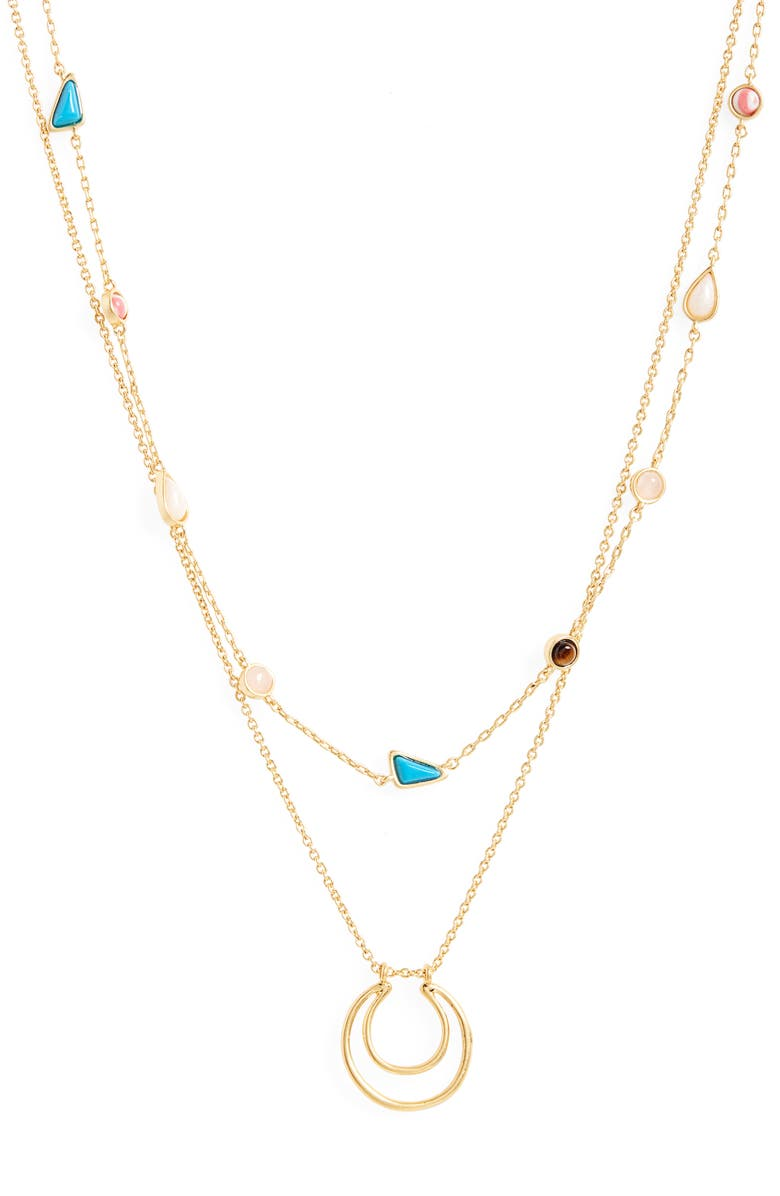 MADEWELL Cabochon Layered Necklace, Main, color, 710
