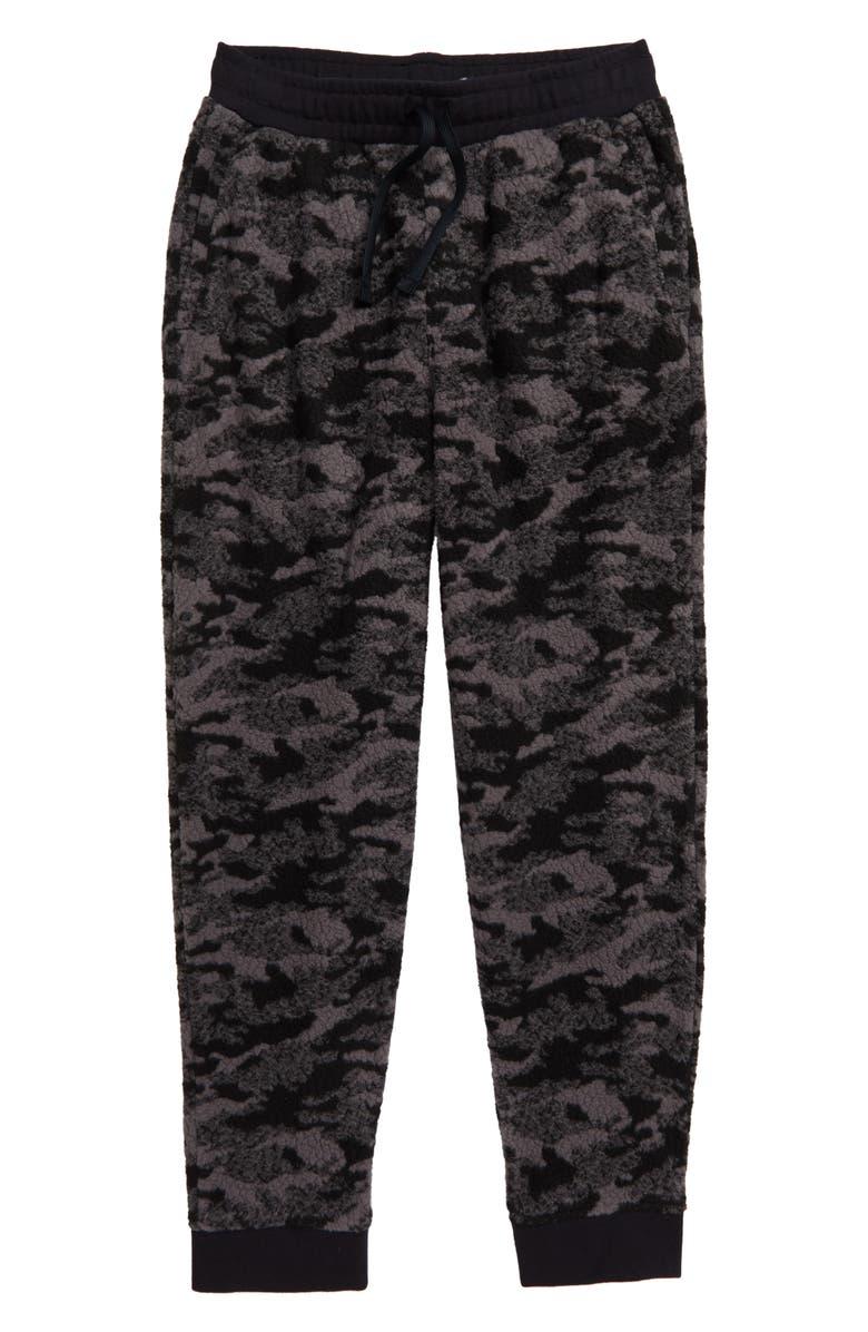 VINEYARD VINES Camo Fleece Jogger Pants, Main, color, JET BLACK