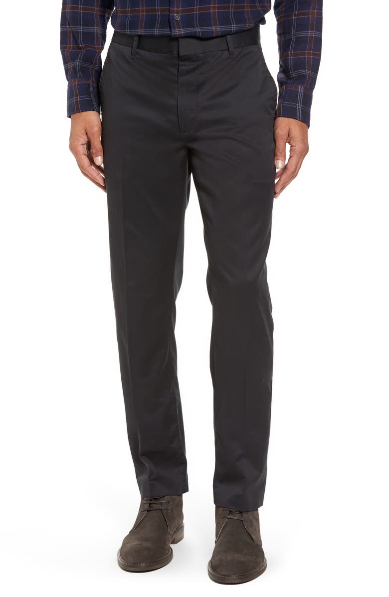 BONOBOS 'Weekday Warriors' Non-Iron Tailored Cotton Chinos, Main, color, 001