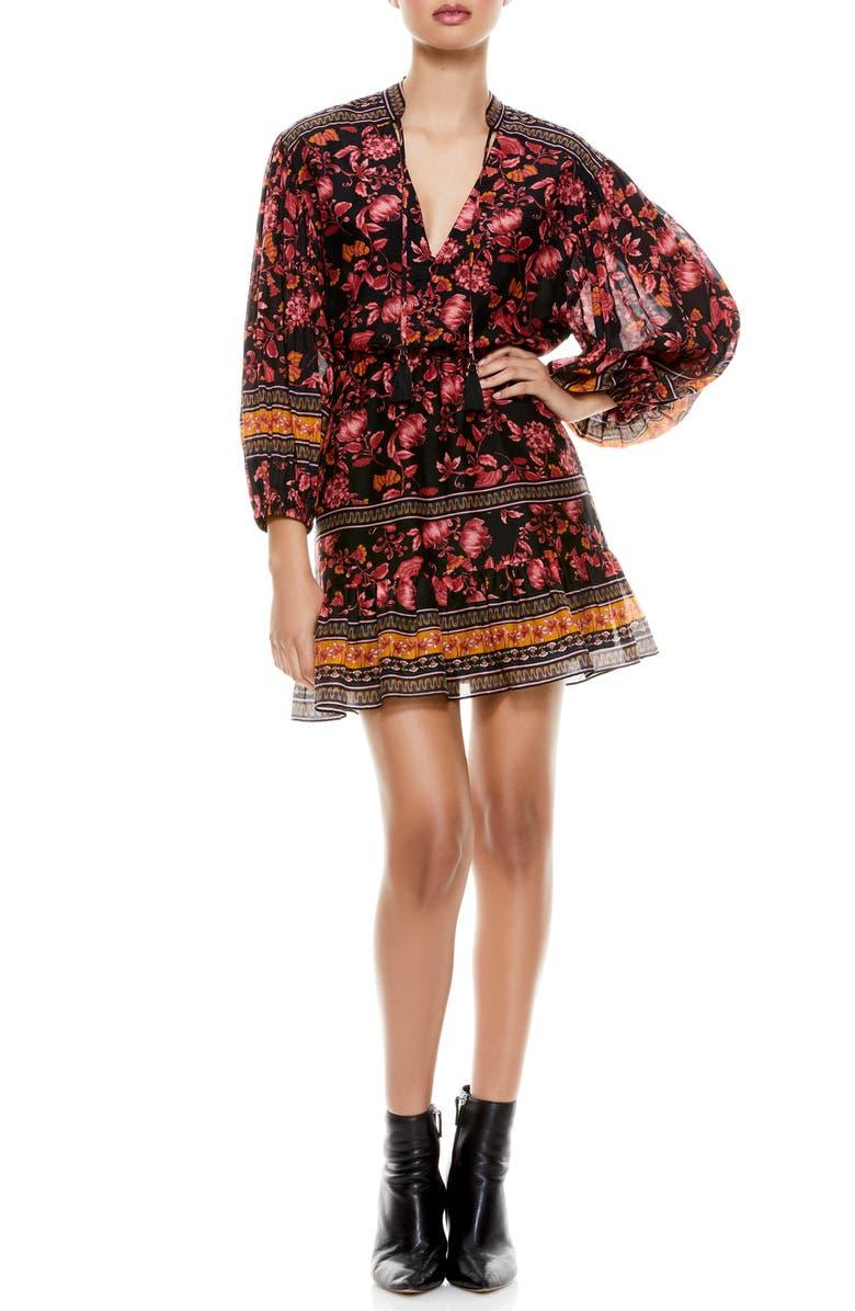 Sedona Floral Long Sleeve Mandarin Collar Dress $159.98