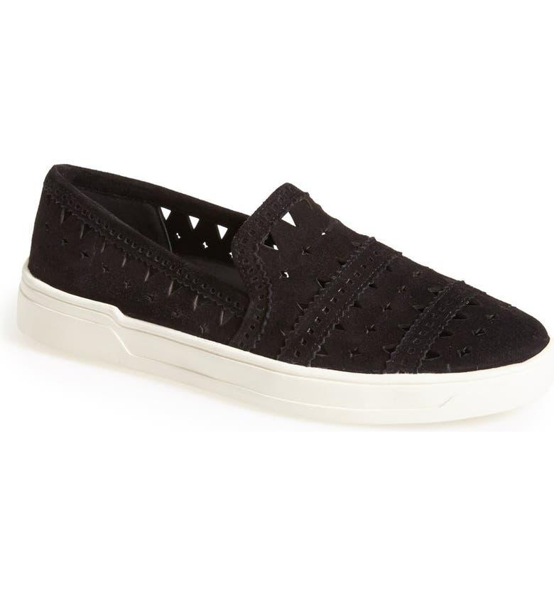 VIA SPIGA 'Gingi' Leather Slip-On Sneaker, Main, color, 001