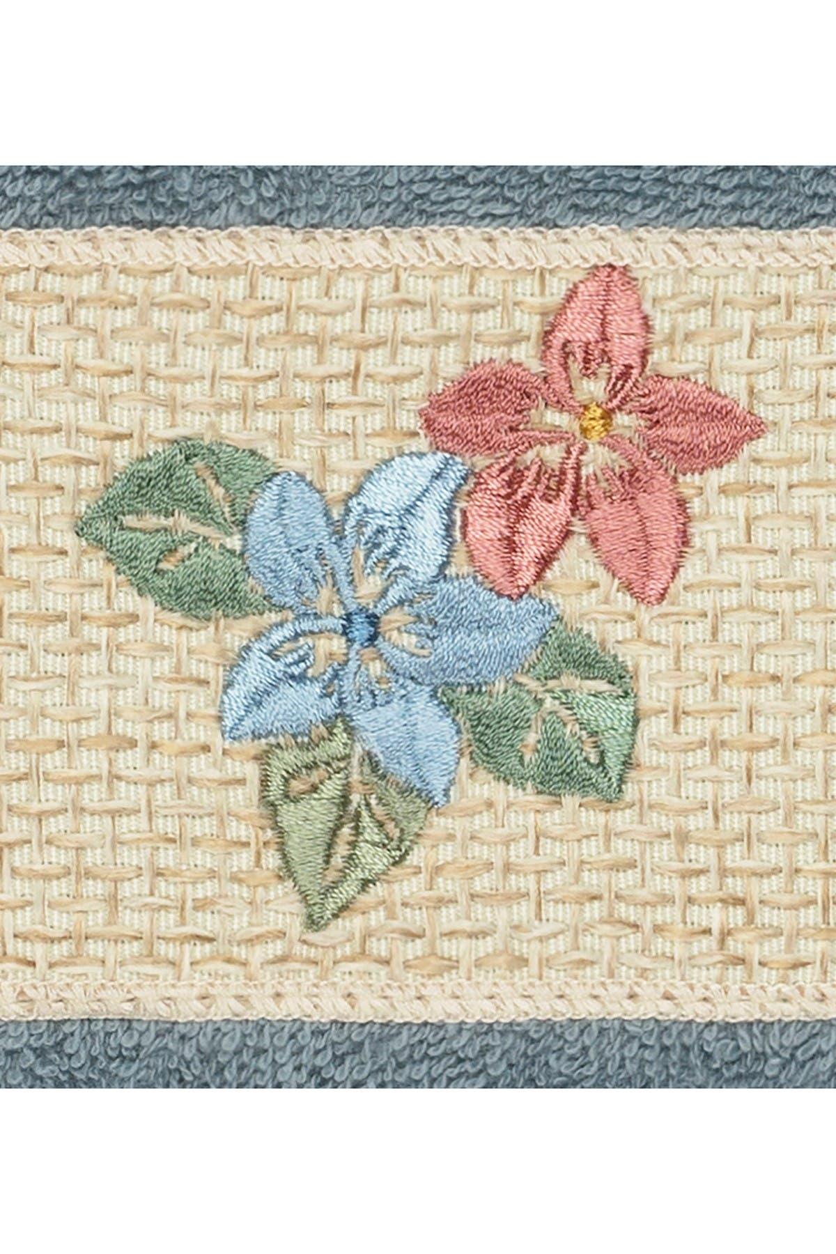 Image of LINUM HOME Caroline 3-Piece Embellished Towel Set - Teal