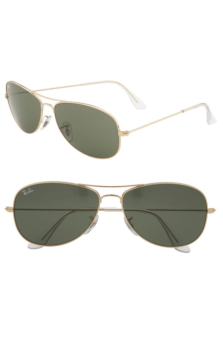 RAY-BAN 'New Classic Aviator' 59mm Sunglasses, Main, color, GOLD