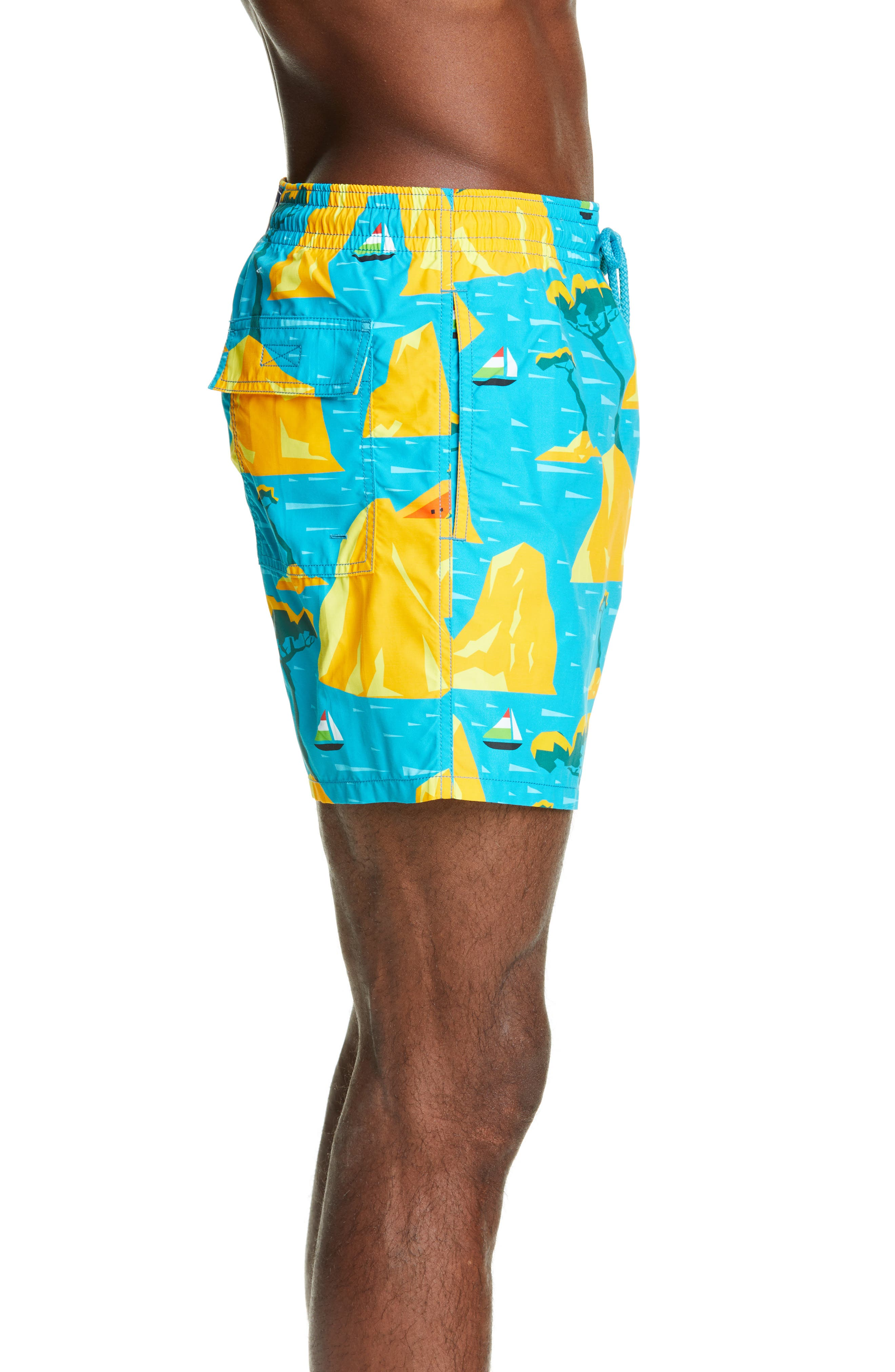 ,                             Capri Swim Trunks,                             Alternate thumbnail 3, color,                             SEYCHELLES