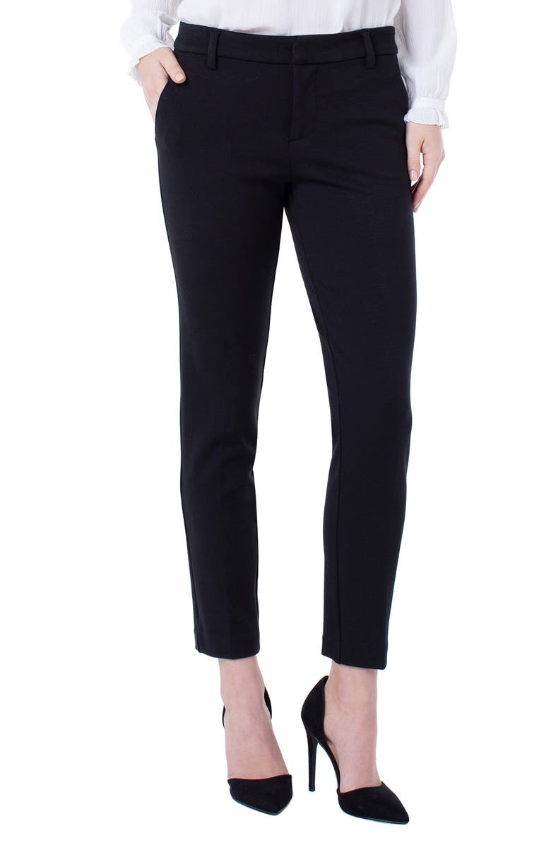 LIVERPOOL Kelsey Knit Trousers, Main, color, BLACK