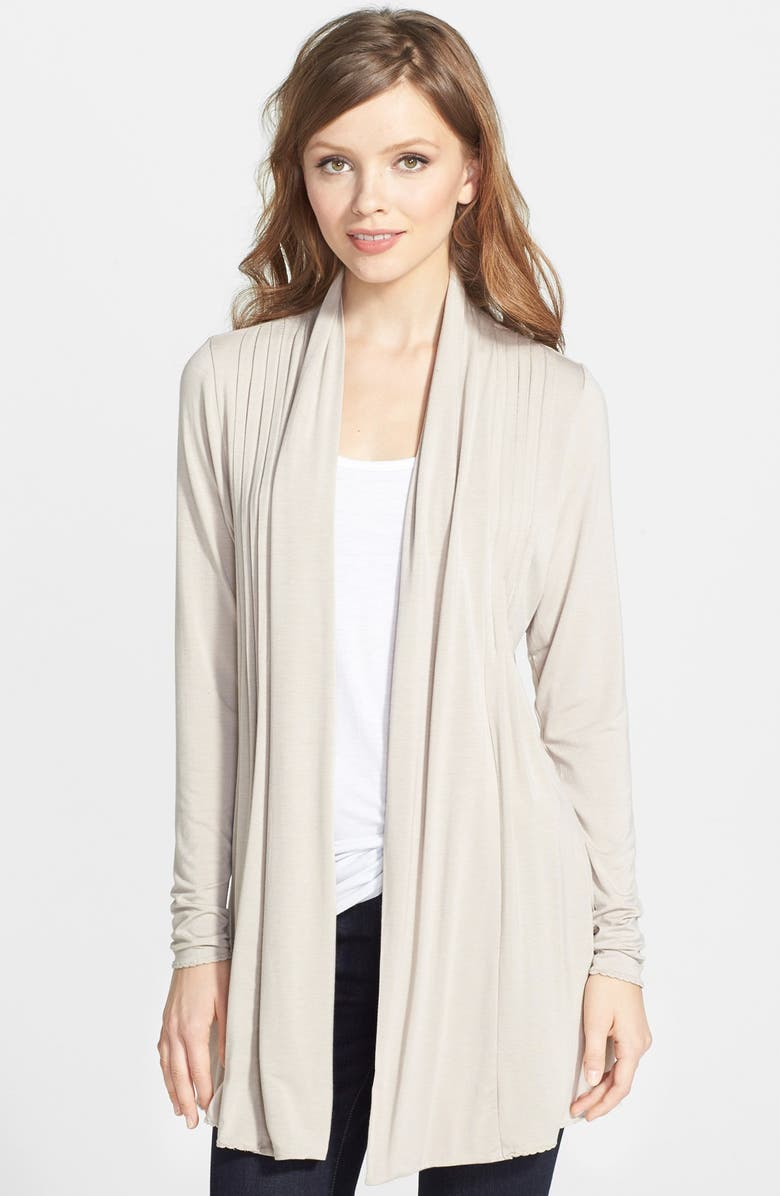 DANTELLE Open Pleat Front Cardigan, Main, color, 431