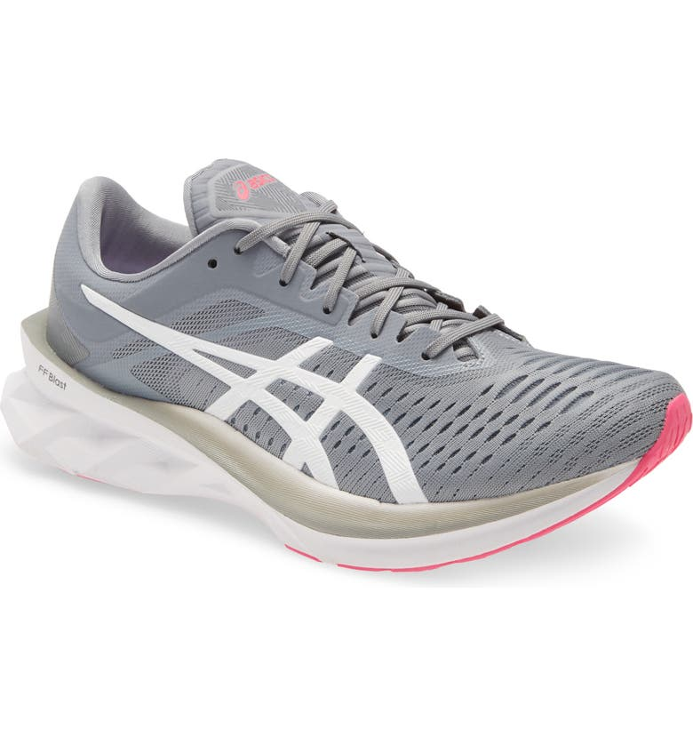 ASICS<SUP>®</SUP> NOVABLAST Running Shoe, Main, color, SHEET ROCK/ WHITE