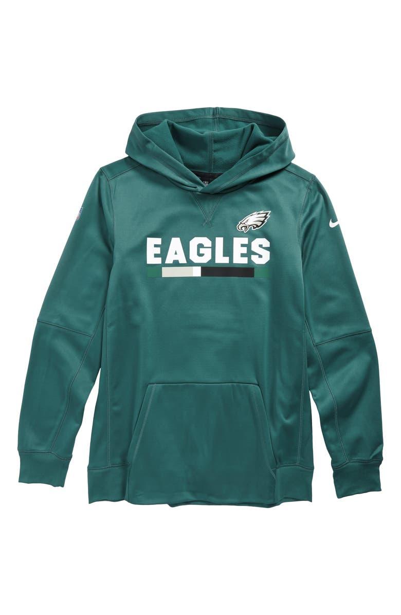 Nike BoysNordstrom Therma Eagles Philadelphia Hoodiebig EH2I9DYW