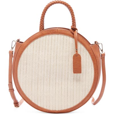 Sole Society Nikole Faux Leather Crossbody Bag - Brown