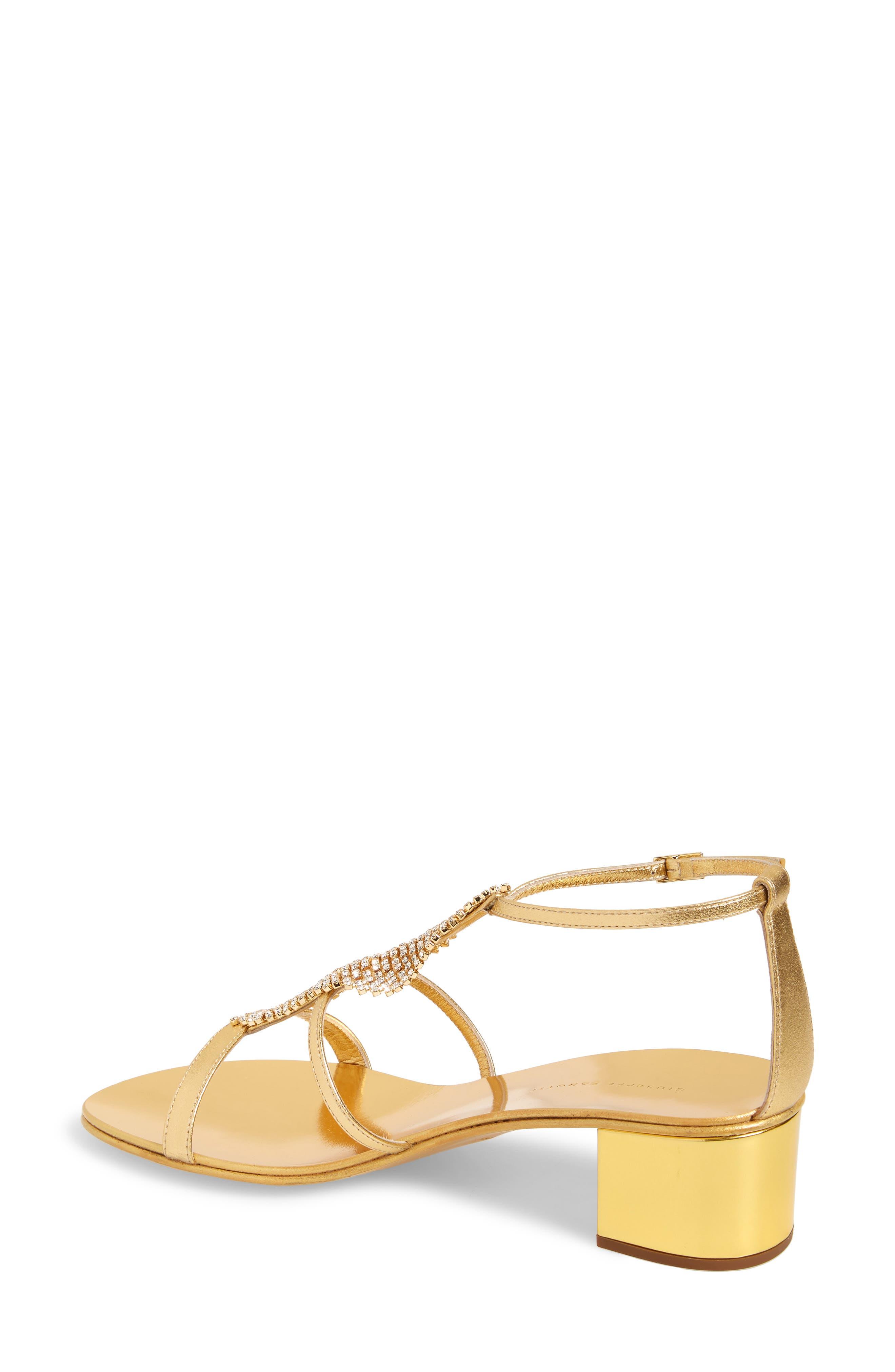 ,                             Crystal Embellished Metallic Sandal,                             Alternate thumbnail 2, color,                             GOLD
