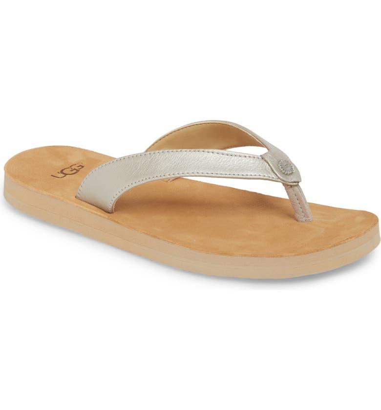 UGG<SUP>®</SUP> Tawney Flip Flop, Main, color, 040