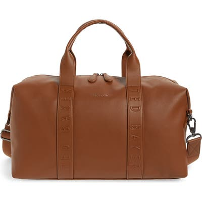 Ted Baker London Hungar Faux Leather Duffle Bag - Brown