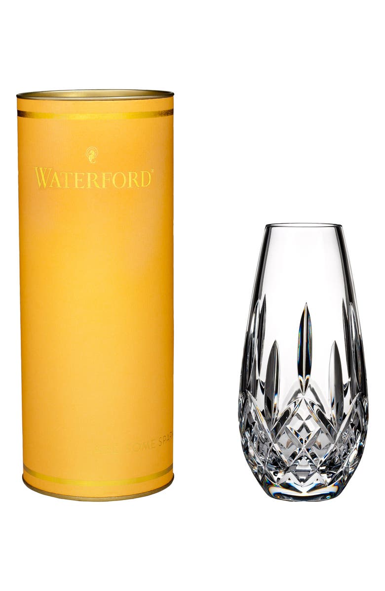 WATERFORD Giftology Lismore Honey Lead Crystal Bud Vase, Main, color, CRYSTAL