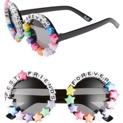Rad + Refined Fest Friends Forever Round Sunglasses - Black/ Pink