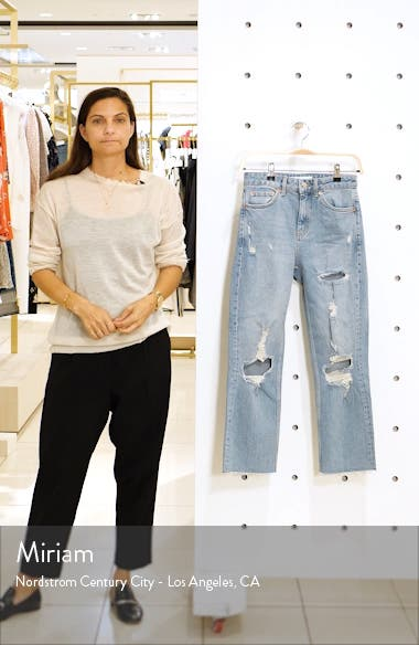 Ripped High Waist Cropped Jeans, sales video thumbnail