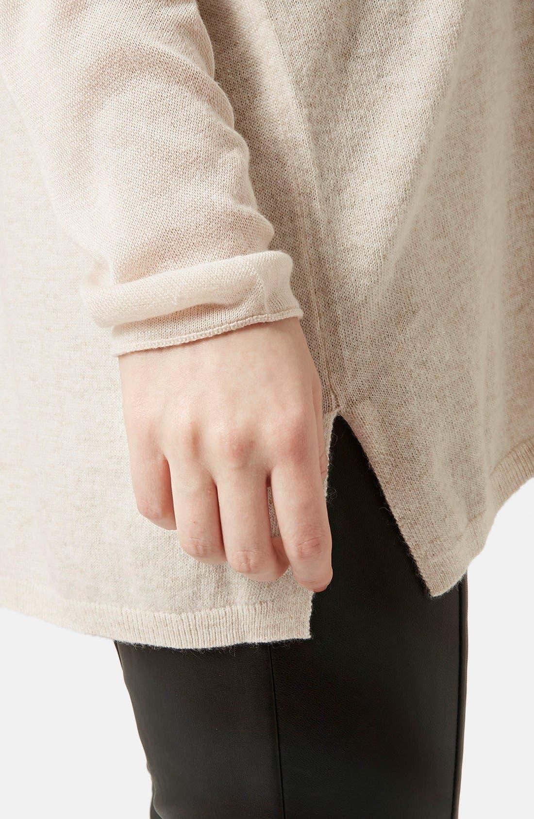 ,                             Front Seam V-Neck Sweater,                             Alternate thumbnail 12, color,                             900