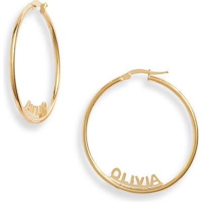 Argento Vivo Personalized Name Hoop Earrings