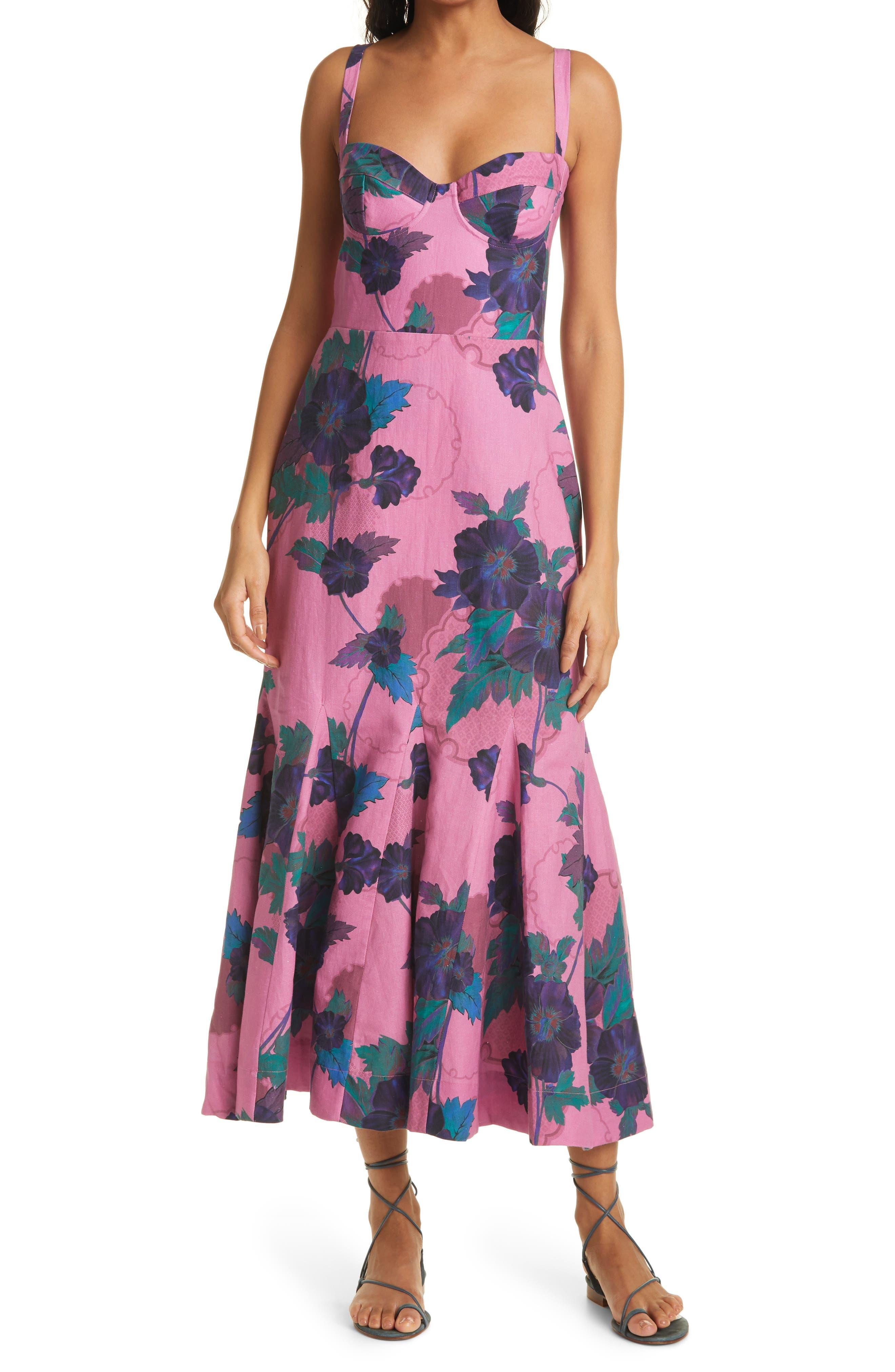 Agwe Floral Linen & Cotton Dress