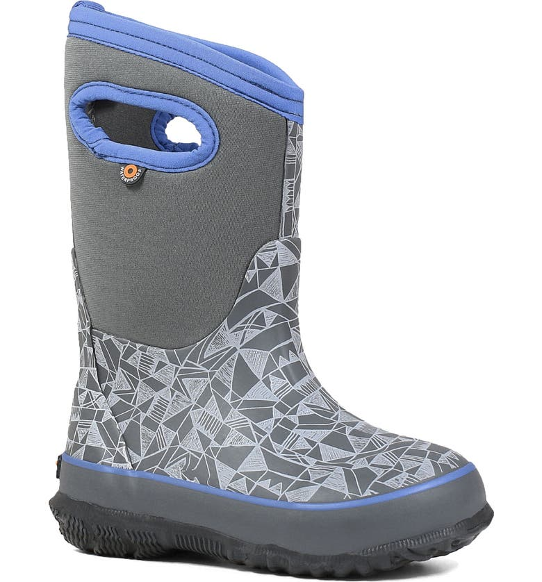 BOGS Classic Maze Geo Insulated Waterproof Boot, Main, color, GRAY MULTI