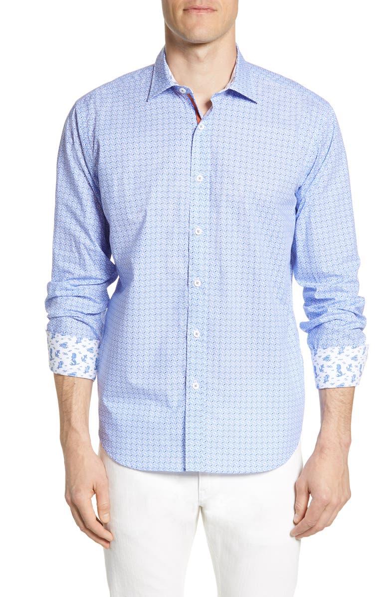 BUGATCHI Classic Fit Shirt, Main, color, 424