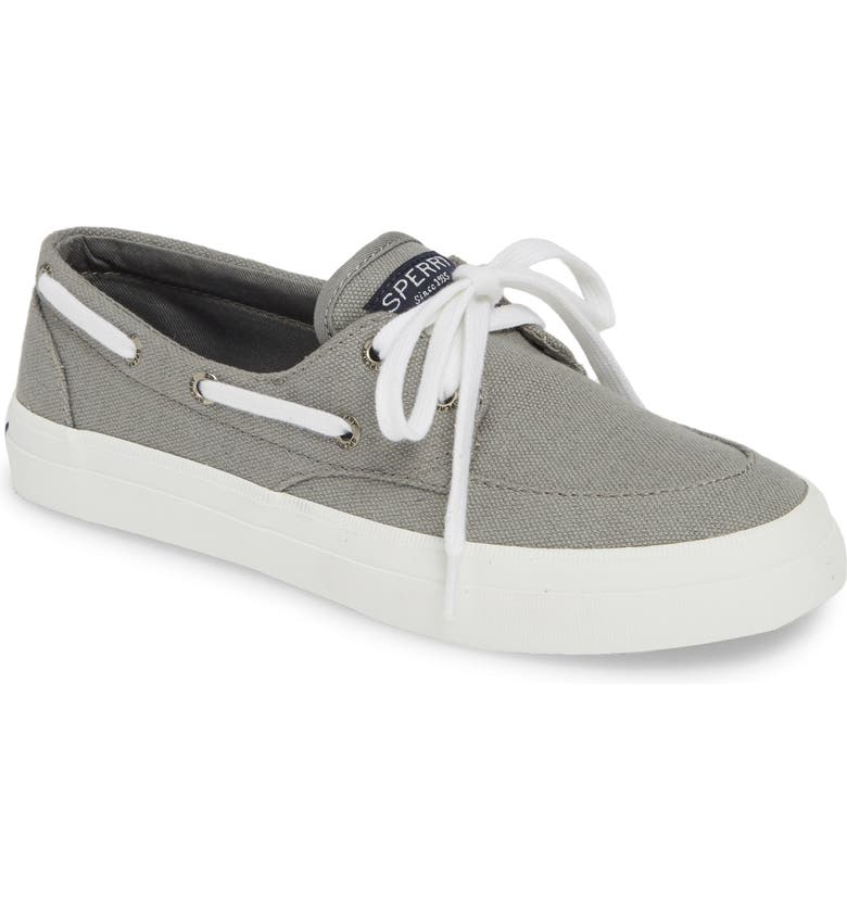 SPERRY Crest Boat Sneaker, Main, color, GREY FABRIC