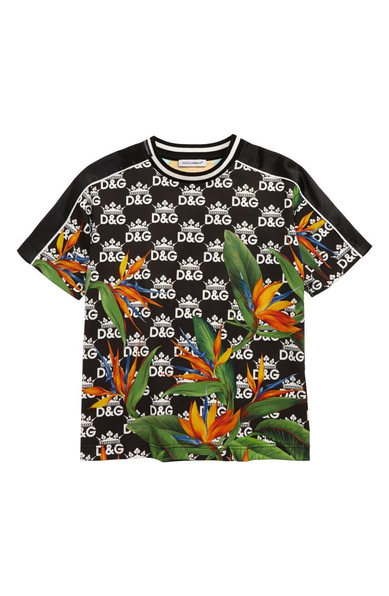 DOLCE&GABBANA Logo Graphic T-Shirt, Main, color, 101