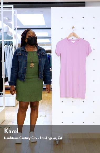 Front Slit Rib T-Shirt Dress, sales video thumbnail