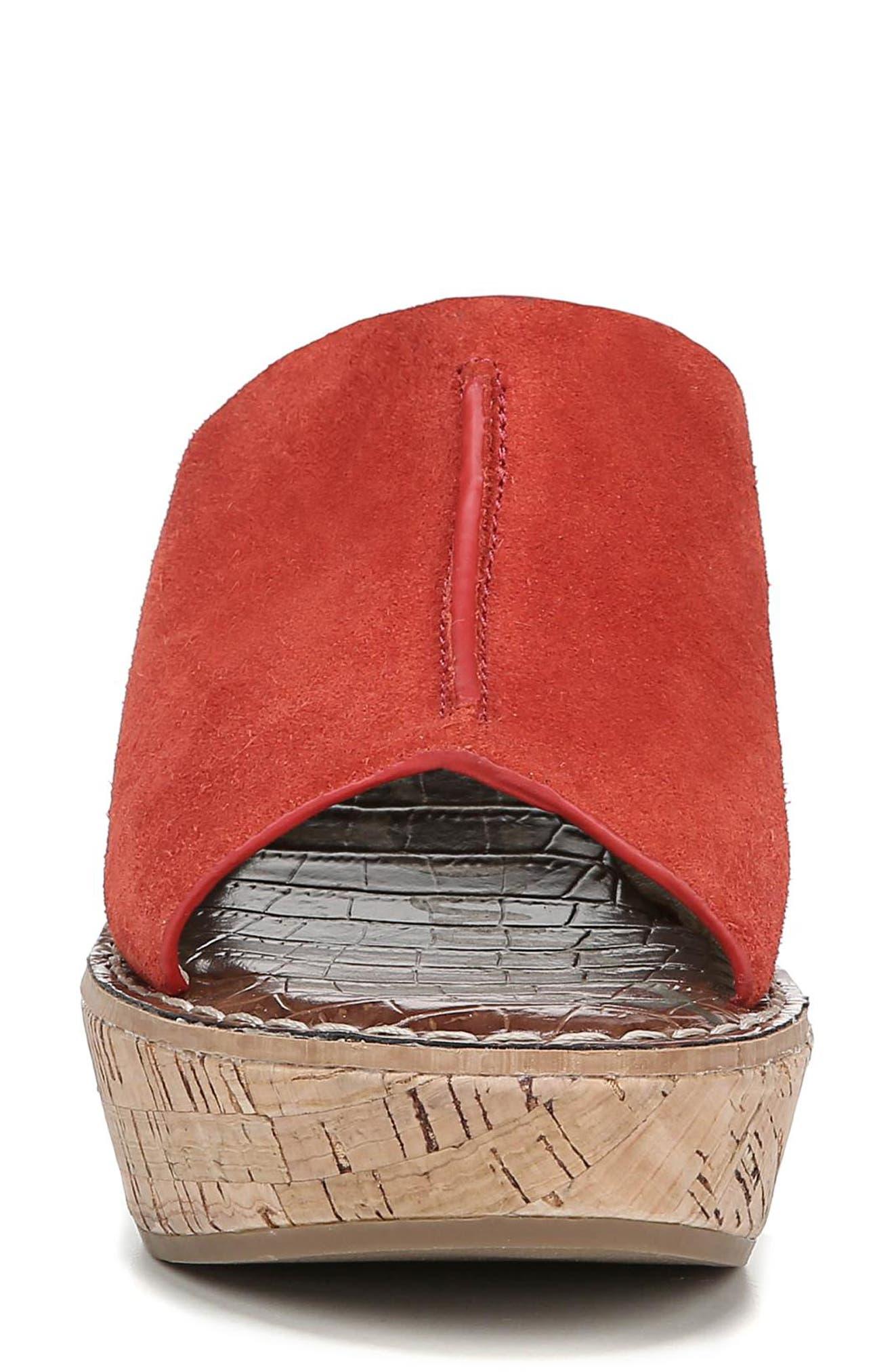 ,                             Ranger Platform Sandal,                             Alternate thumbnail 4, color,                             CANDY RED SUEDE