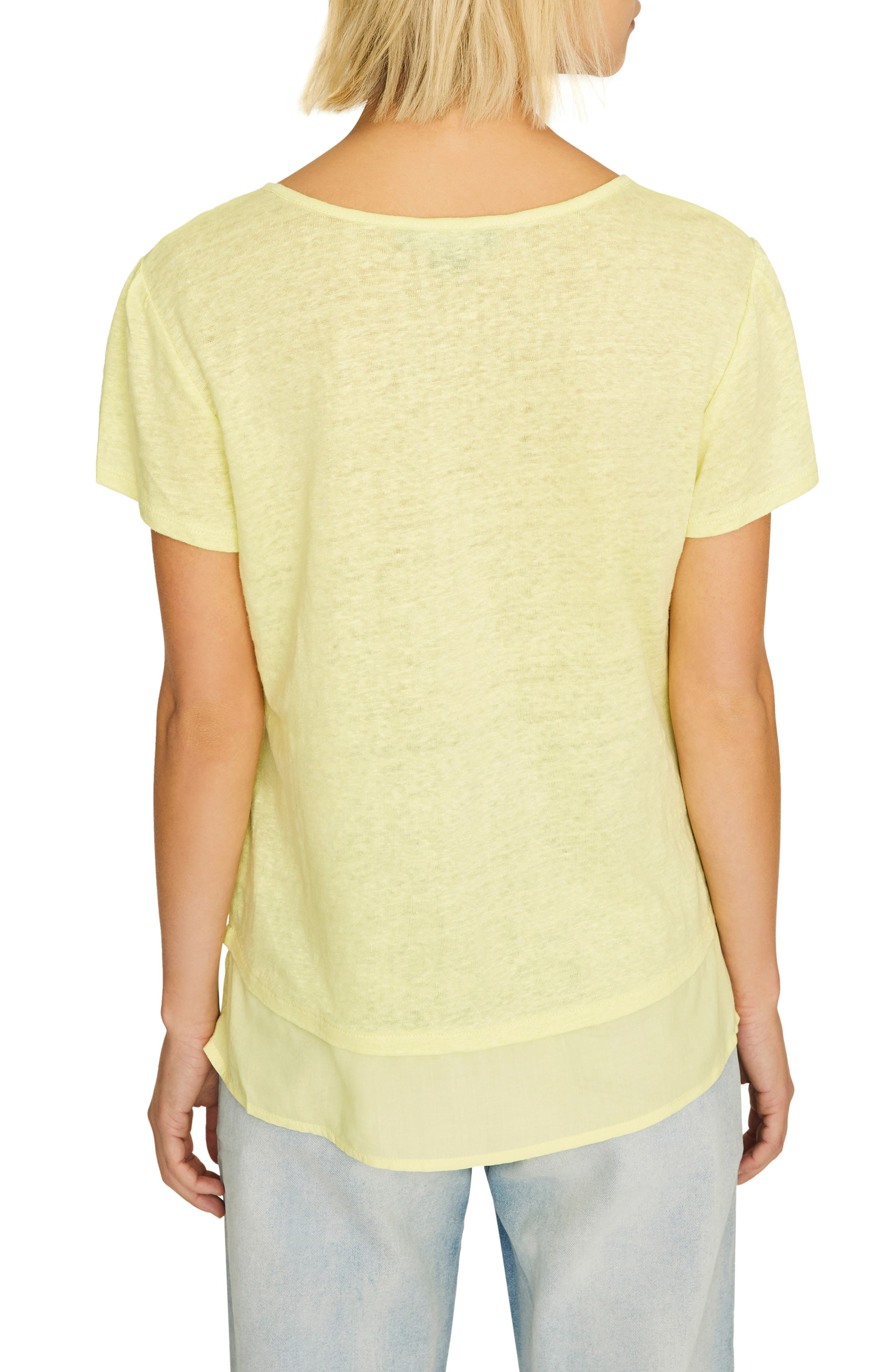 ,                             Uptown Linen Tee,                             Alternate thumbnail 2, color,                             ICE LIME