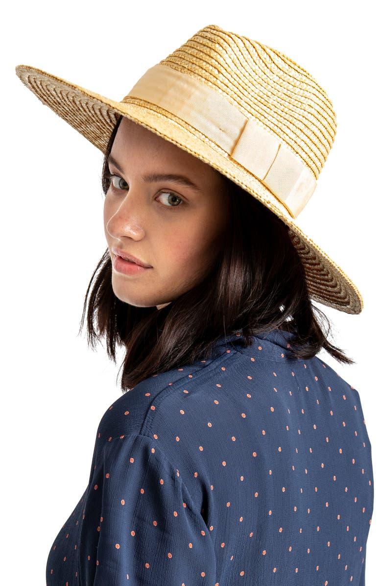 BRIXTON Joanna Straw Hat, Alternate, color, HONEY/ HONEY