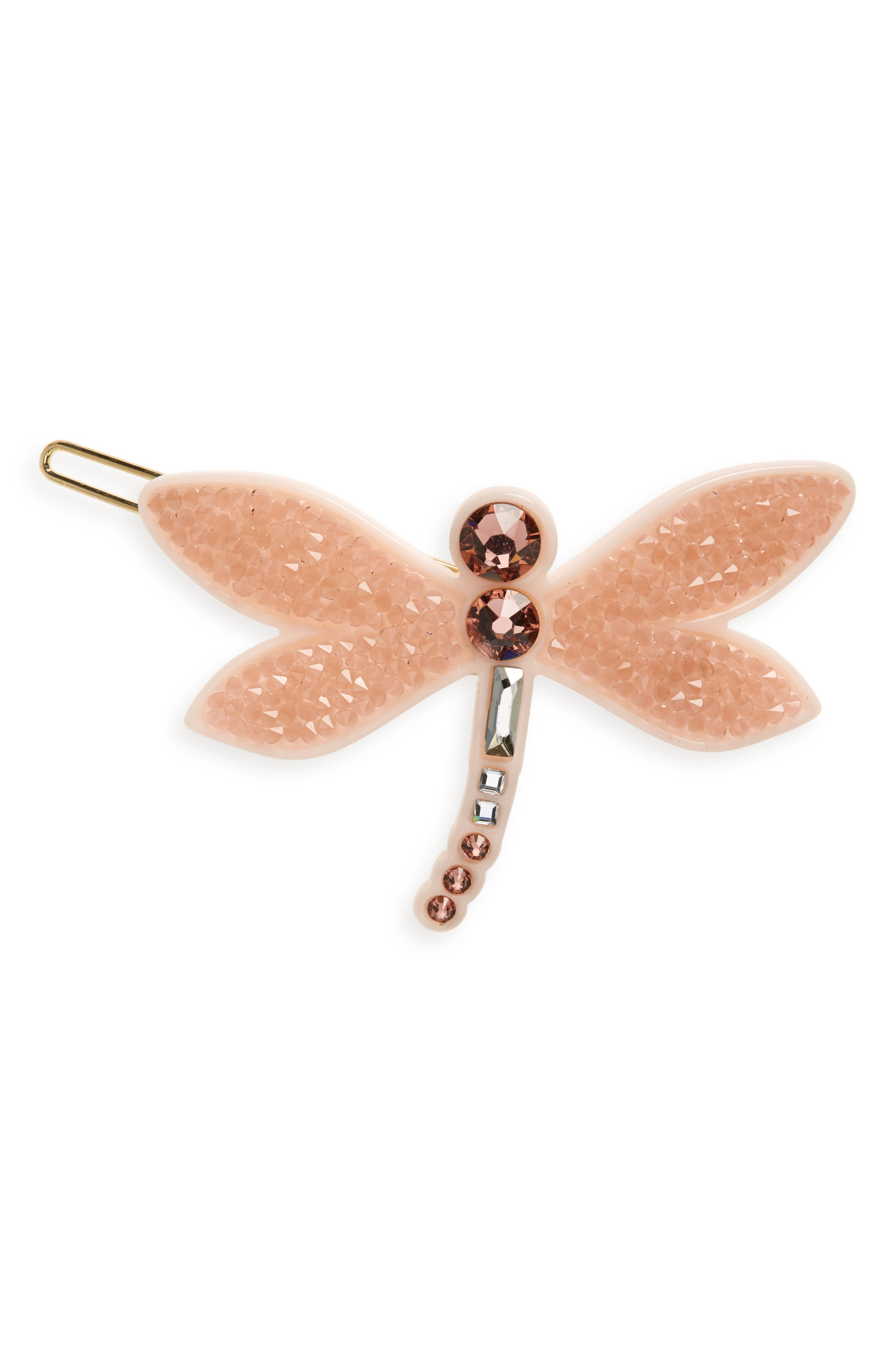 Mayfly Side Barrette, Main, color, PINK