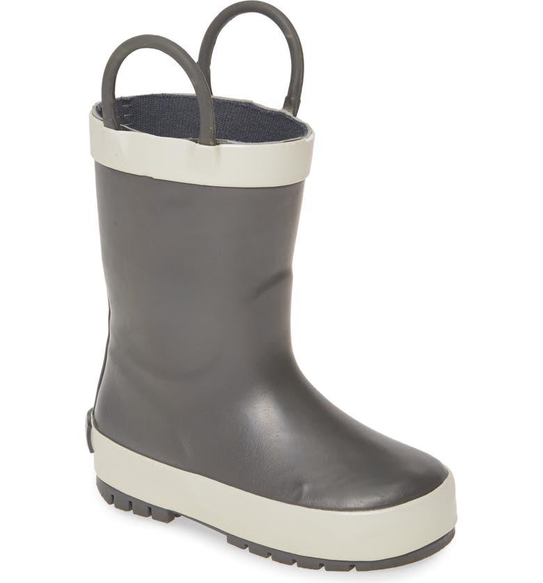 TUCKER + TATE Puddle Rain Boot, Main, color, GREY/WHITE
