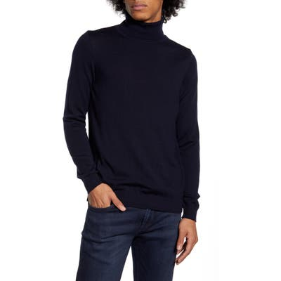 Wax London Sterling Turtleneck Sweater, Blue