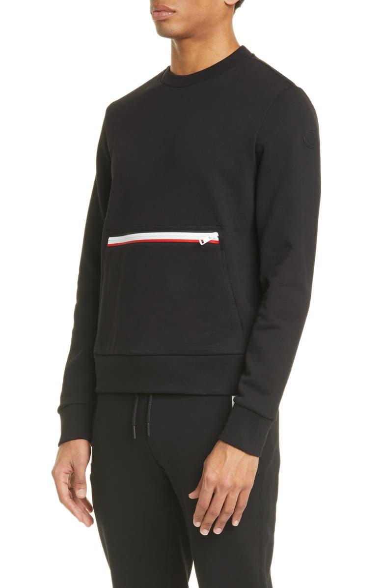 MONCLER Kangaroo Pocket Sweatshirt, Main, color, BLACK