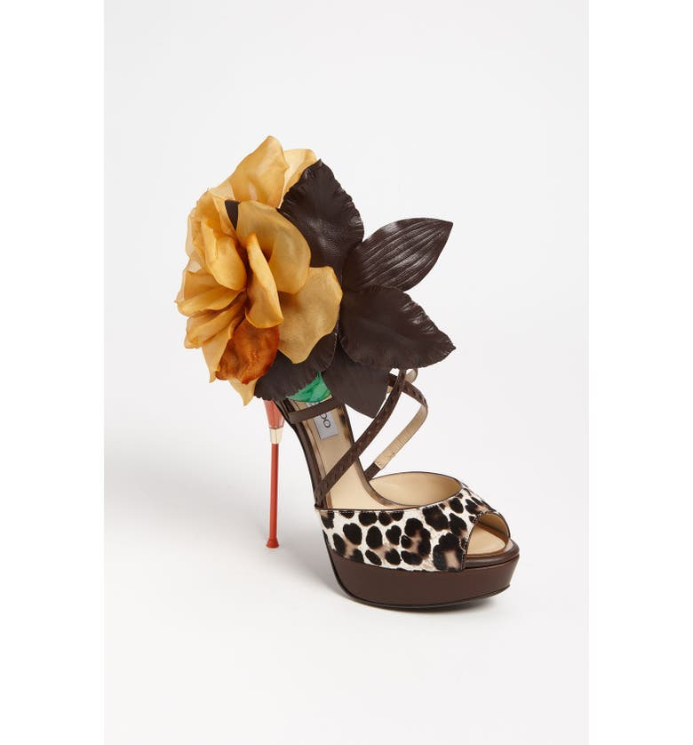 JIMMY CHOO 'Mira Flower' Sandal, Main, color, 200