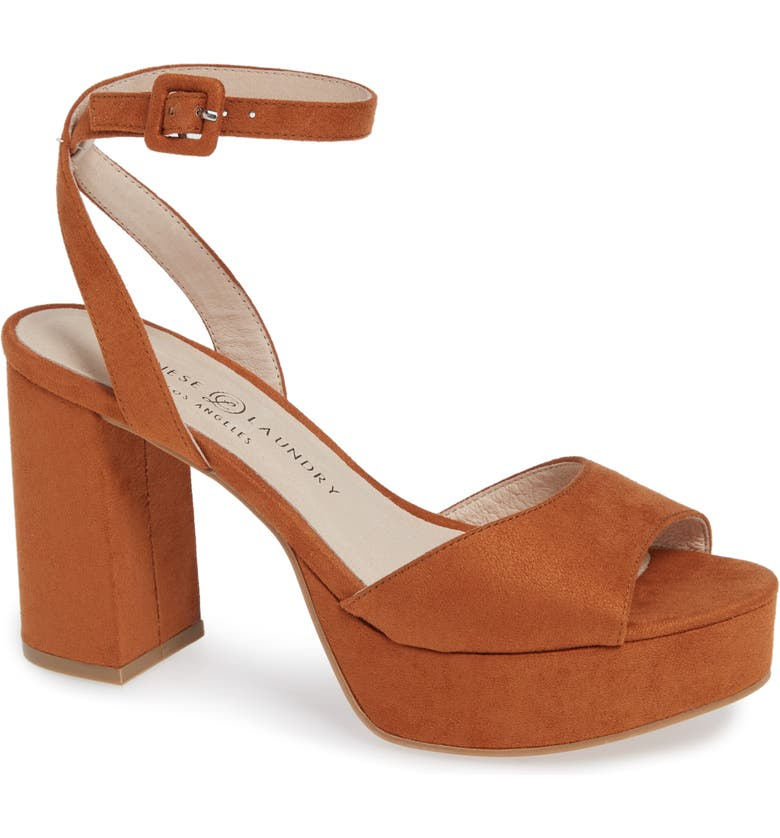 CHINESE LAUNDRY Theresa Platform Sandal, Main, color, UMBER SUEDE