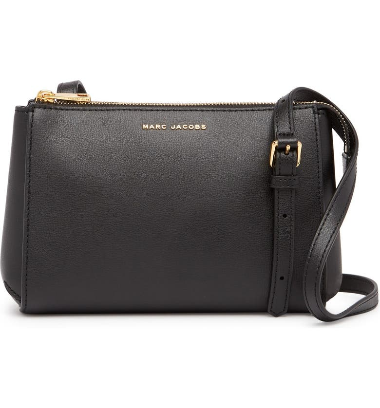 MARC JACOBS Commuter Crossbody Bag, Main, color, BLACK