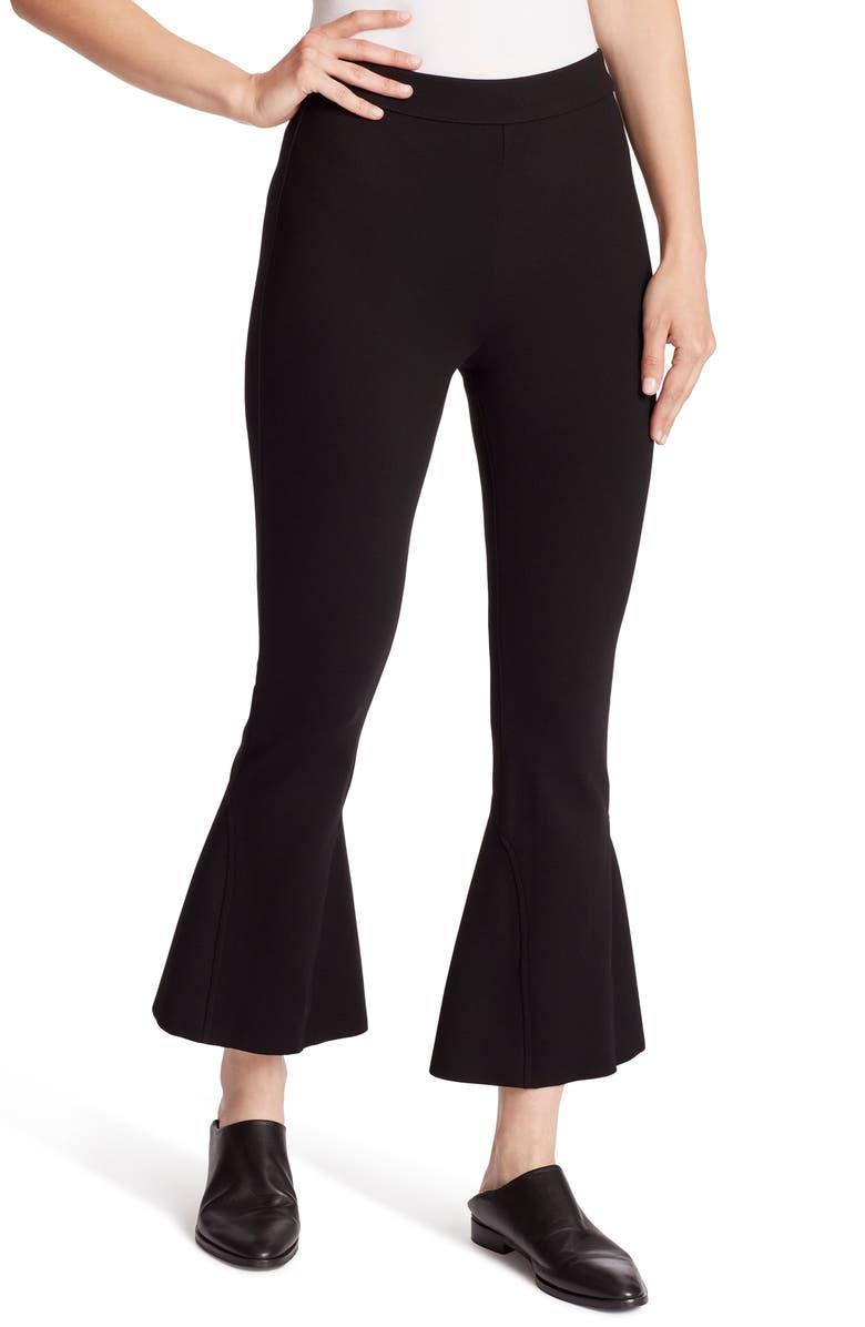 ELLA MOSS High Waist Crop Flare Pants, Main, color, BLACK