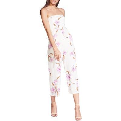 Bardot Strapless Crop Jumpsuit, Ivory