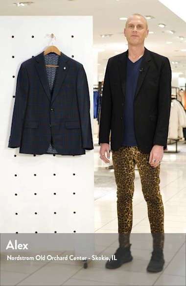 Jay Trim Fit Plaid Wool Sport Coat, sales video thumbnail
