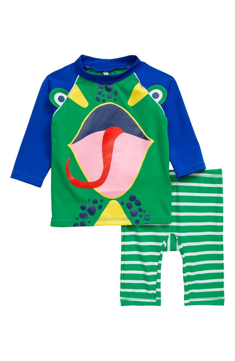 MINI BODEN Lizard Surf Suit, Main, color, SHAMROCK GREEN LIZARD