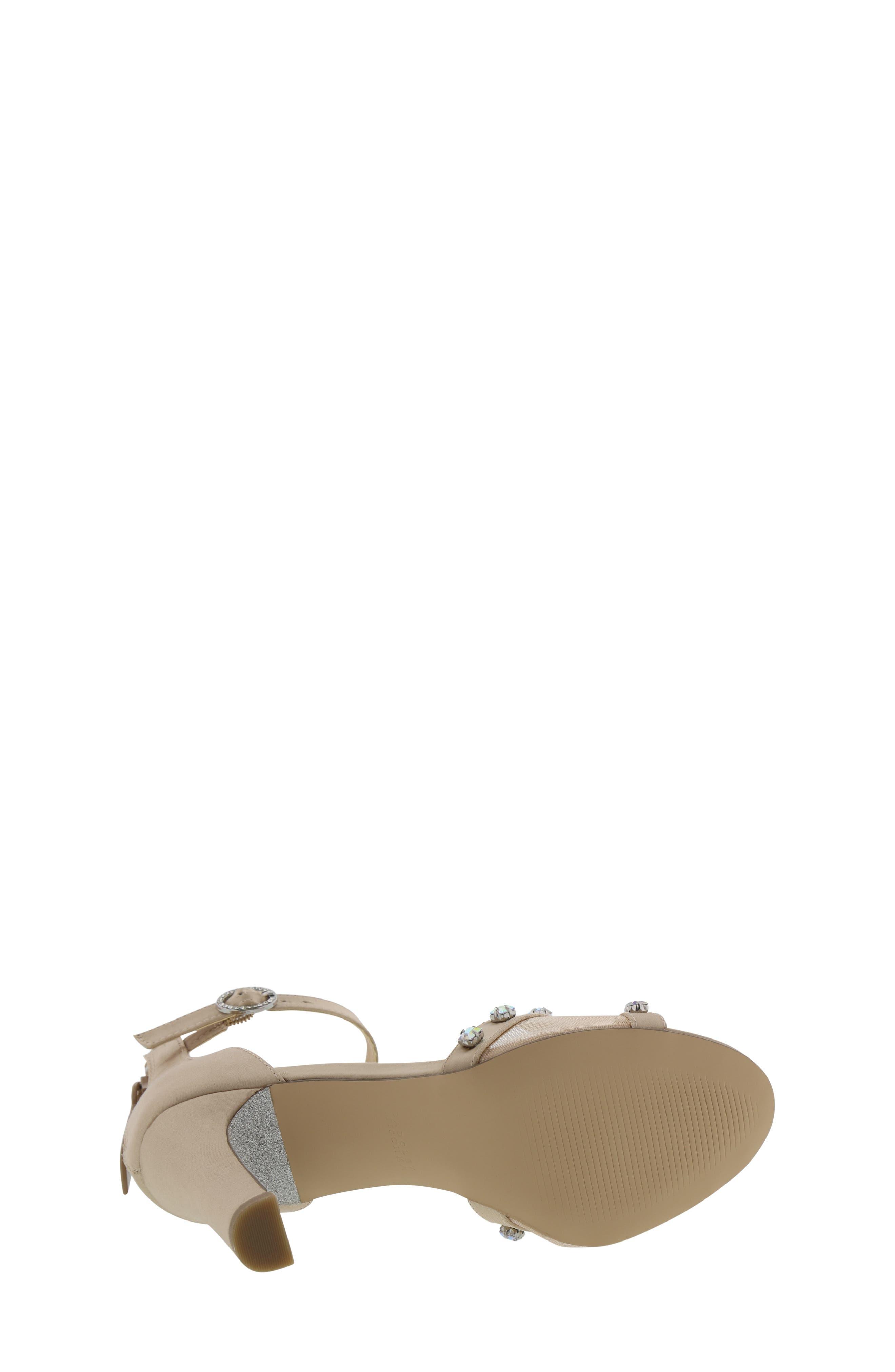 ,                             Badgley Mischka Kendall Glam Sparkle Sandal,                             Alternate thumbnail 6, color,                             CHAMPAGNE