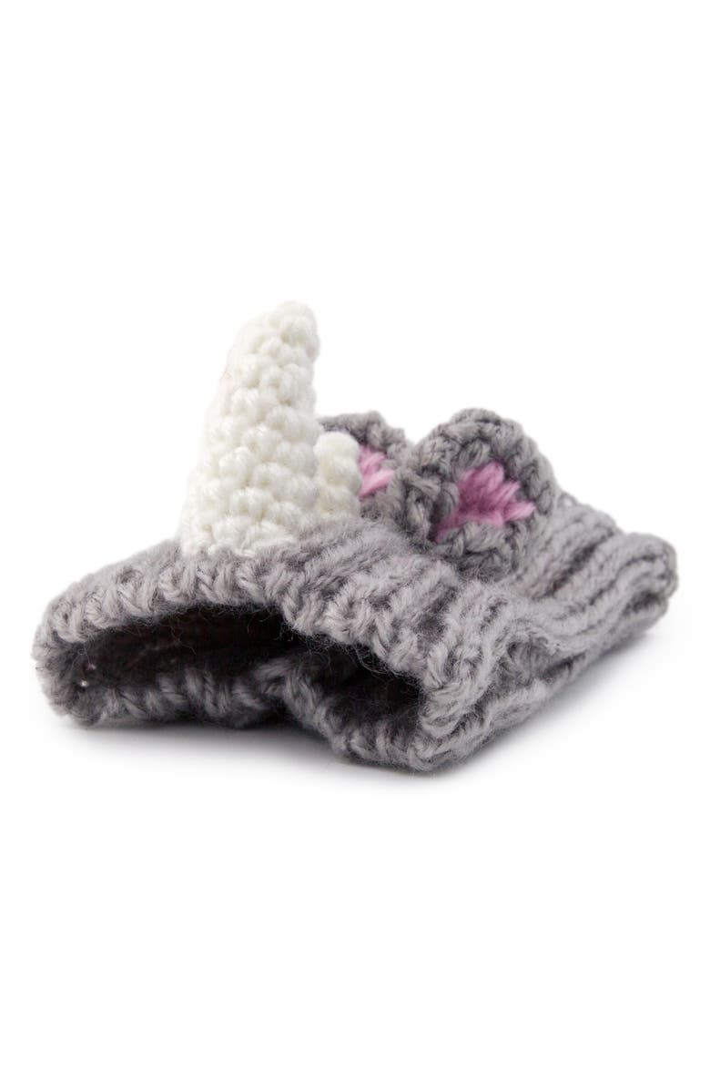 ZOO SNOODS Rhino Crochet Dog Snood, Main, color, GREY