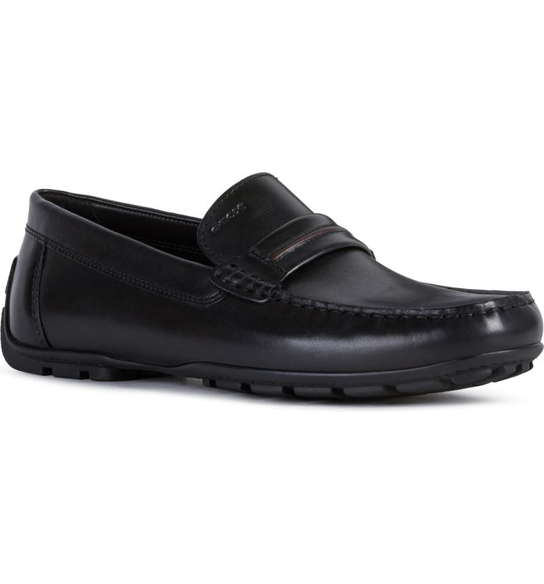 GEOX Moner 4 Driving Shoe, Main, color, BLACK