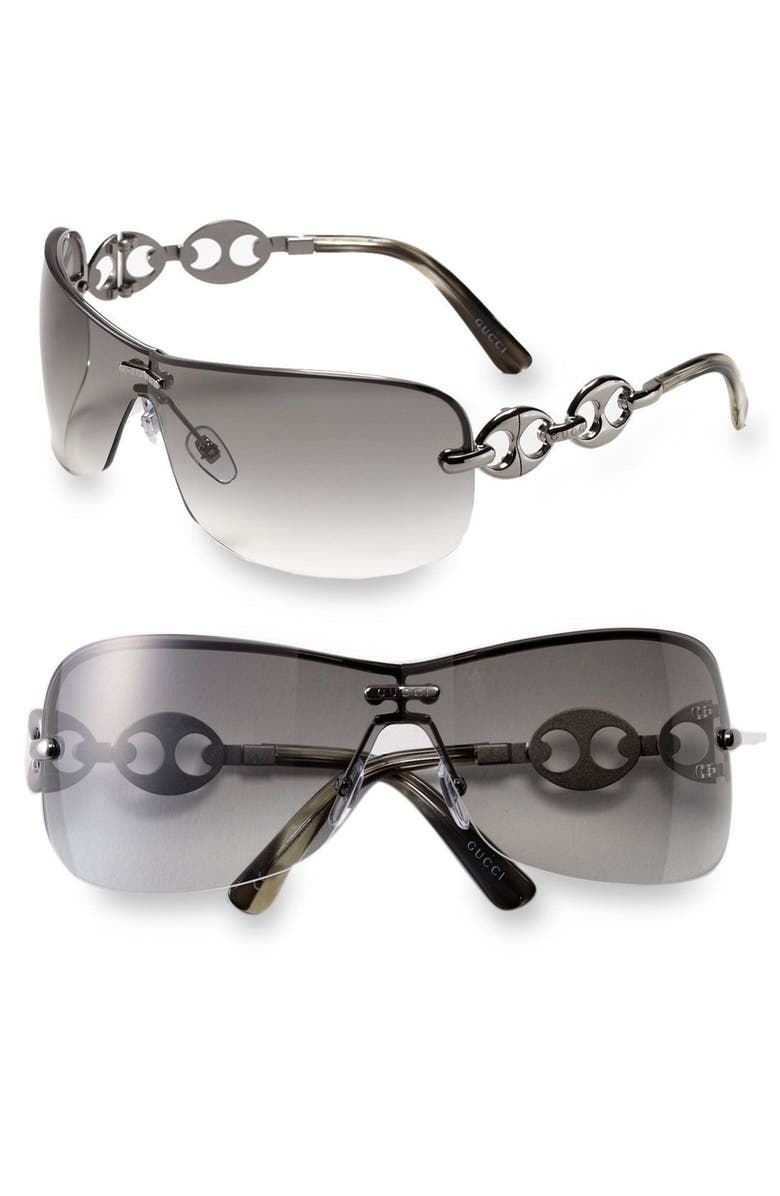 90c6558ca Rimless Shield Sunglasses with Chain Detail, Main, color, 040