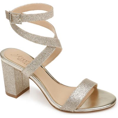 Jewel Badgley Mischka Newberry Sandal, Metallic
